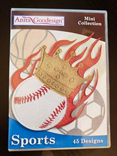 (Anita Goodesign Machine Embroidery Designs CD - Sports - 45 Designs (143MAGHD))