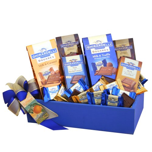California Delicious Ghirardelli Chocolate Party Gift Basket (Lovers Chocolate Gift Basket)