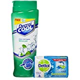 Neelawala Prickly Heat Powder with Dettol Cool Soap - 150 and 75 gm