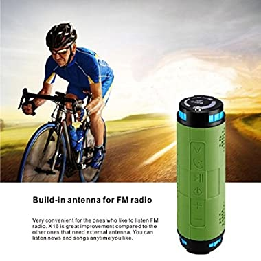eHub Portable 20 Watts Waterproof Bluetooth Speakers For Bike Riders & Outdoor Enthusiasts. Guaranteed 30 Hours of Playtime with 10000 mAh Rechargeable Battery. Shockproof, Dustproof, Waterproof!