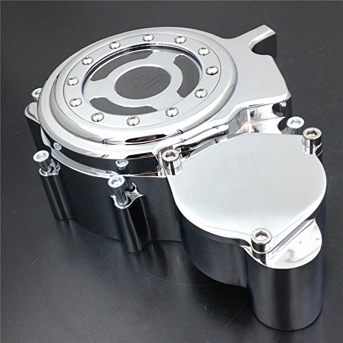 XKMT-Engine Stator Cover See Through Compatible With Suzuki Gsxr 600 750 2006-2016 Chromed Left B00YYSN23Q
