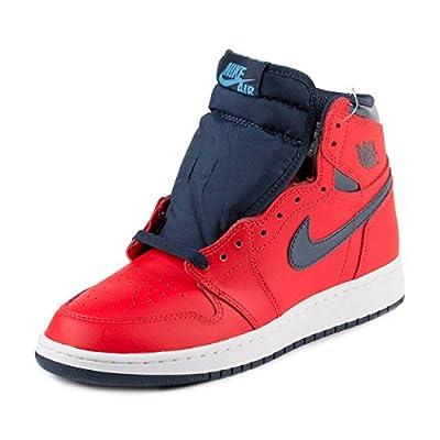 Jordan Air 1 Retro High OG BG David Letterman Youth Sneakers New Light Crimson - 6