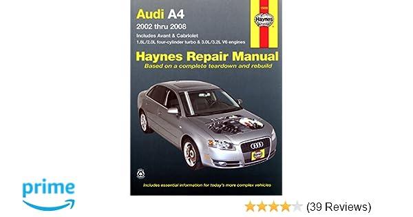Audi a4 2002 2008 haynes repair manual haynes 9781563928376 audi a4 2002 2008 haynes repair manual haynes 9781563928376 amazon books fandeluxe Gallery