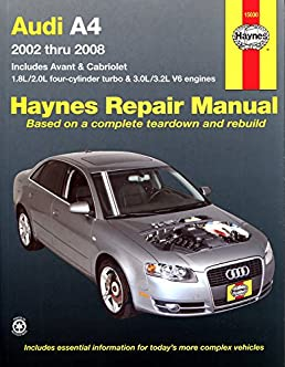 audi a4 02 08 haynes repair manual paperback amazon co uk rh amazon co uk Clymer Manuals Haynes Manual Monte Carlo Back