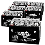 Honda 750 CC VT750C Shadow Aero 2004 YTZ12S Powersport Motorcycle Battery Sealed Maintenance Free YTZ12S-BS AGM GEL Extreme High Performance 12V - Genuine KEYKO - 6 Pack