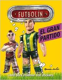 Futbolín. El gran partido: Libro para colorear con stickers: Amazon.es: AA. VV.: Libros