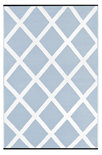 light blue and white rug - 6