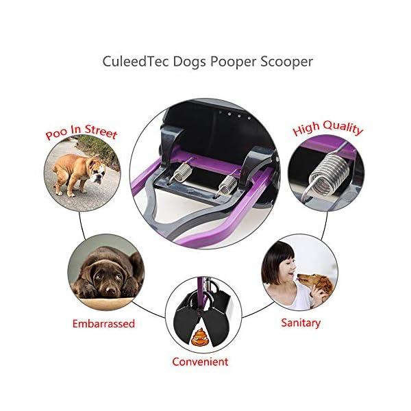 CuleedTec Jaw Pet Pooper Scooper, 23.6 Inch Long Handle Cleaning Pickup Clip Poop Scoop for Dog and Cat Animal Waste 6