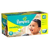 Baby : Pampers Swaddlers Diapers Size 4, 104 Count
