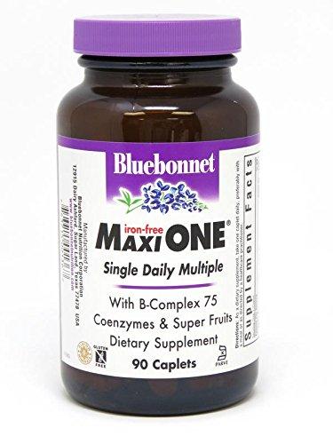 Bluebonnet Maxi One Iron Free Caplets, 90 (One Caplets)