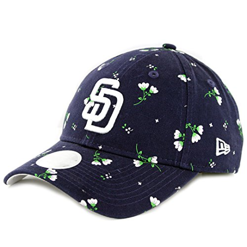 "New Era 920 San Diego Padres ""Ladies's Blossom"" Strapback Hat (Navy) Dad Cap – DiZiSports Store"