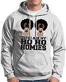 These are my Ho Ho Homies Hoodie Sweatshirt Medium Ash