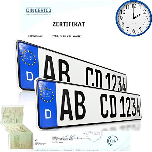 2 X Eu Car License Plates Car Signs License Plates All Car Brands With Individual Embossing According To Your Specifications Auto