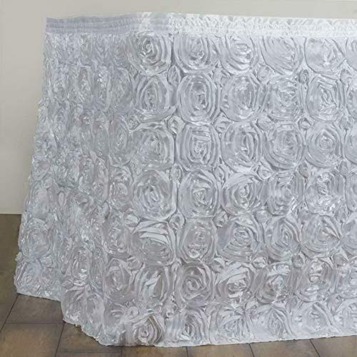 Mikash 21 Feet ~New~ Rosette Table Skirt for Wedding Party Decor - Choose Your Color! | Model WDDNGDCRTN - 22138 | -