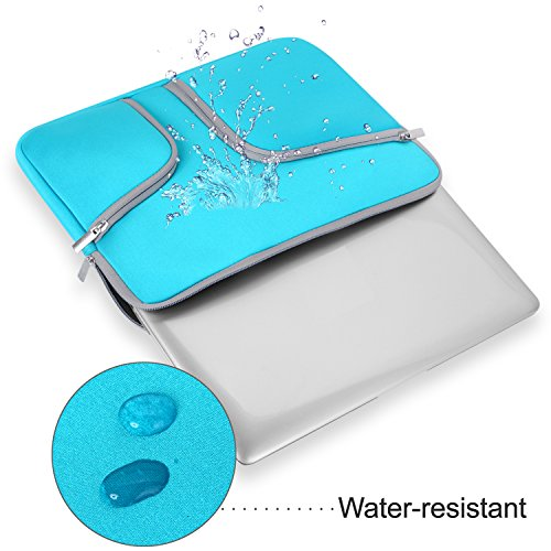 egiant Laptop Sleeve Case 13.3 inch Waterproof Protective Bag Compatible Mac Air 13 /Pro 13 Touch Bar/Surface Book/12.9'' iPad Pro/Chromebook 13,Computer Notebook Carrying Case- Blue by egiant (Image #4)