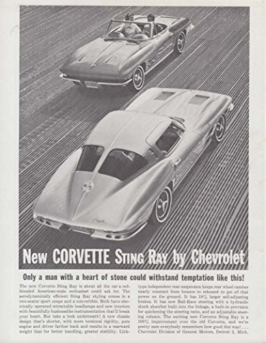 Only a man with a heart of stone Corvette Sting Ray ad 1963 GP