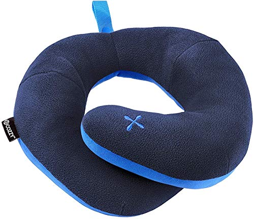 BCOZZY Chin Supporting Patented Travel Pillow - Prevents The Head from Falling Forward in Any Sitting Position, Providing Comfort and Support for The Neck and Head. Adult Size (Navy)