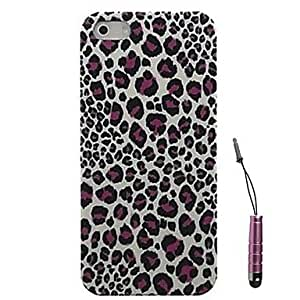 LZX Leopard Pattern Hard Case for & Touch Pen iPhone 4/4S