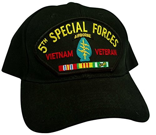HMC US Army 5th Airborne Special Forces Vietnam Veteran w/Service Ribbons Low Profile Adjustable Ball Cap
