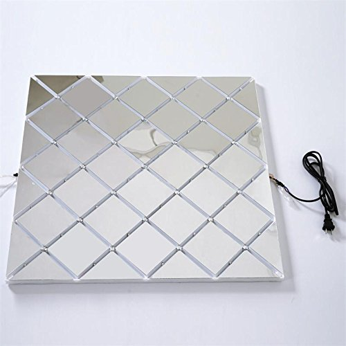 BalsaCircle 8 pcs 23.25-inch Colorful Illuminated LED Lights on Mirror Panels for Dance Floor or Wall Art Wedding Party Decorations
