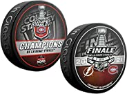 Inglasco Canadiens 2021 Stanley Cup Finals Souvenir Hockey 2-Puck Pack (French)
