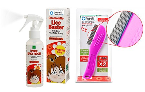 Chamomile Natural Lice Spray (4 Oz) - Non-Toxic Effective Repellent for Lice and Nits for Men, Women and 6 Months + Children - Fast Working Odor-free Treatment | Free Lice Comb Included