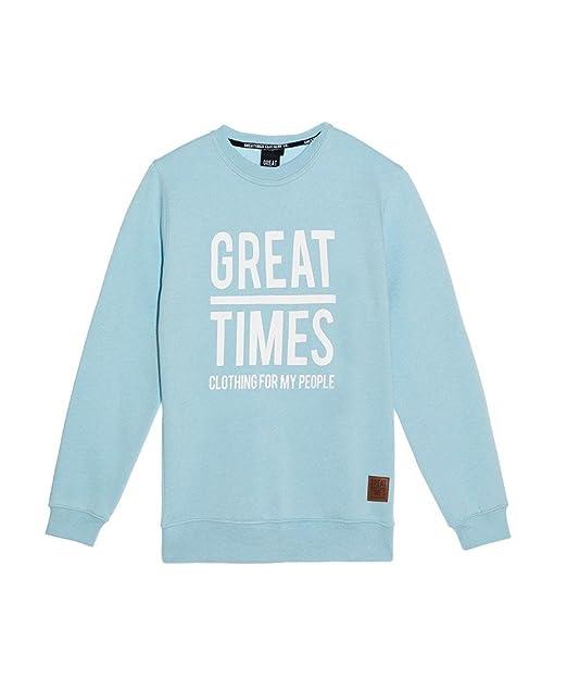 GREAT TIMES CLOTHING SUDADERA CHICA BASICA AZUL CLARO - Color - Azul, Tallas - S: Amazon.es: Ropa y accesorios