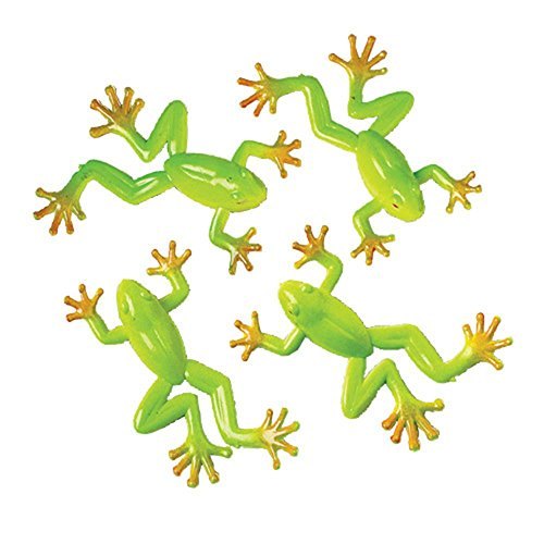 Lot of 12 Realistic Mini Tree Frog Toy ()