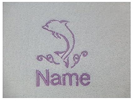 Toalla de baño con un delfín Logo y nombre de su elección (por favor envíenos