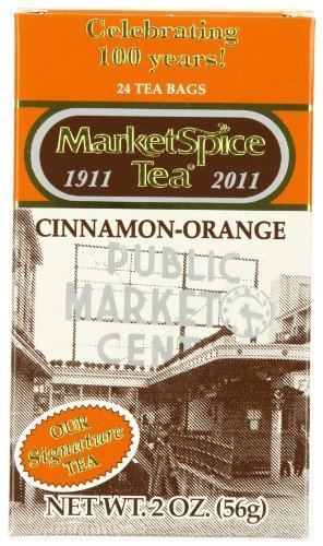 MarketSpice Cinnamon-Orange Tea Bag, 24 count (Pack of 2) Market Spice Teabag - Market Spice Cinnamon Tea