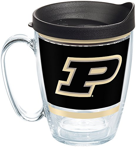 (Tervis 1257516 Ncaa Purdue Boilermakers Legend Coffee Mug With Lid, 16 oz, Clear )