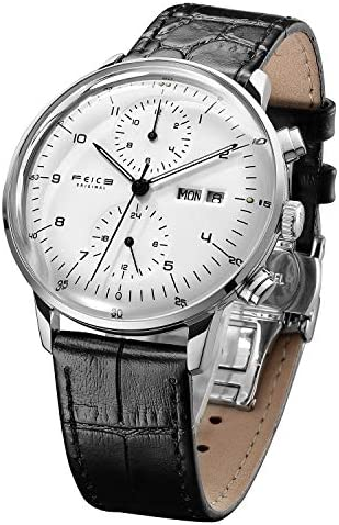 FEICE Men s Mechanical Watch Bauhaus Automatic Watch Stainless Steel Self-Winding Wrist Watches Casual Dress Watches for Men with Leather Bands Date Calendar -FM121