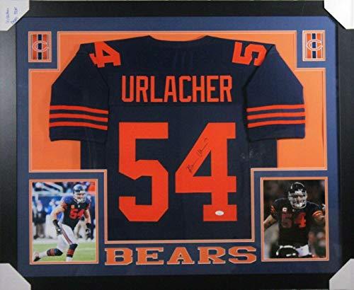 Brian Urlacher Signed Jersey - FRAMED THROWBACK w WITNESSED COA - JSA Certified - Autographed NFL Jerseys
