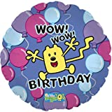 Wow Wow Wubbzy 18 Inch Mylar Foil Balloon Blue purple jumping