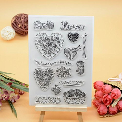 Welcome to Joyful Home 1pc Love Happy Valentine's Day Design Rubber Clear Stamp for Card Making Decoration and Scrapbooking (3) ()