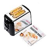 Toaster Bags (Set of 3) | Sacs à grille pain | Perfect For Grilled Cheese Sandwiches Panini & Garlic Toast | Parfait Pour les Sandwichs au Fromage Grillé le Panini et le Pain à L'ail