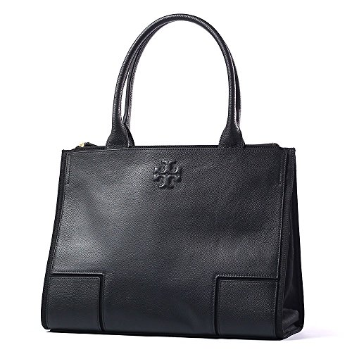 Tory Burch Canvas Black Leather