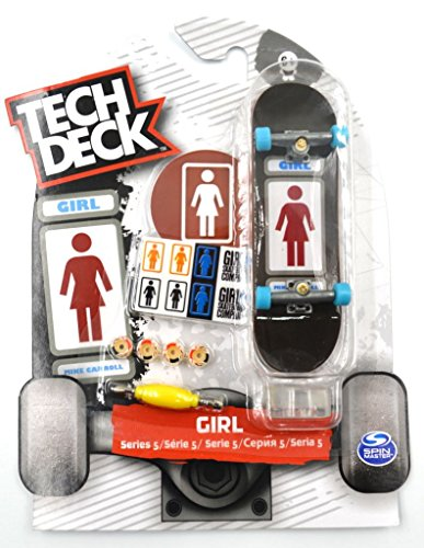 Tech Deck Mini Skateboard GIRL Series 5 Fingerboard With Sticker & Stand