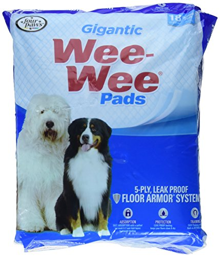 Four Paws Wee-Wee Pads, Gigantic, 18-Pack
