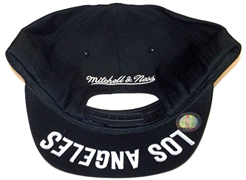 Mitchell & Ness NBA Los Angeles Clippers 3D Undervisor and Logo Snapback Hat Cap (One Size, Clippers Black)