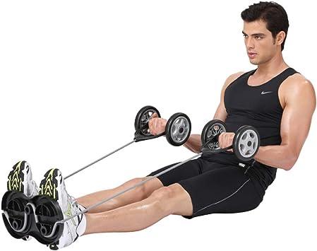 alfombrilla antideslizante para hombre y mujer entrenamiento muscular Rueda de entrenamiento abdominal rodillo abdominal Rodillo de ejercicio abdominal con almohadilla extra gruesa para la rodilla