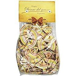Donne Del Grano Rainbow Bowties/Farfalle Arcobaleno Italian Pasta, 9 Ounce Bag Package (Pack of 2)