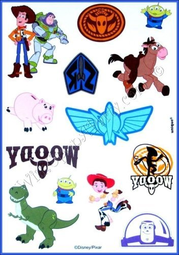 Toy Story 3: 4 Tattoo Sheets -