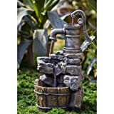 Water Pump and Rock Fountain The Water is Circulated by Electric Pump For Sale