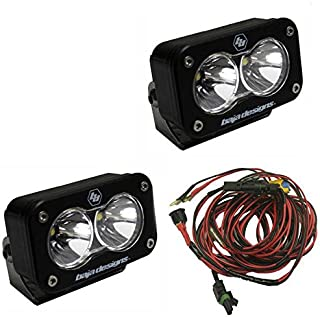 product image for Baja Designs S2 PRO Pair UTV LED Light Flood Work Pattern