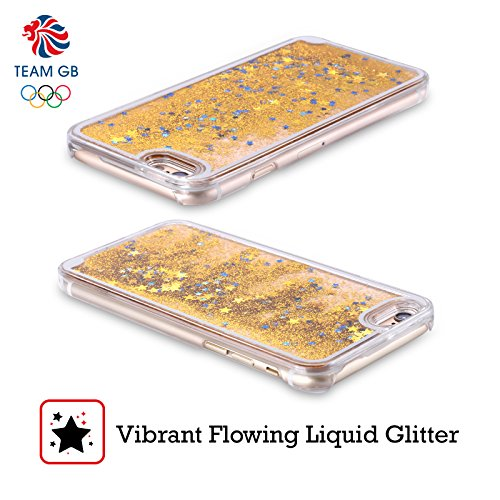 Official Team GB British Olympic Association Bahia Lion Rio Gold Liquid Glitter Case Cover for Apple iPhone 6 / 6s