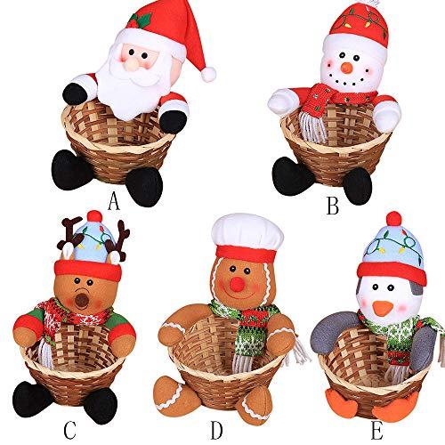 YKARITIANNA Merry Christmas Candy Storage Basket Decoration Santa Claus Storage Basket by YKARITIANNA Accessories (Image #2)