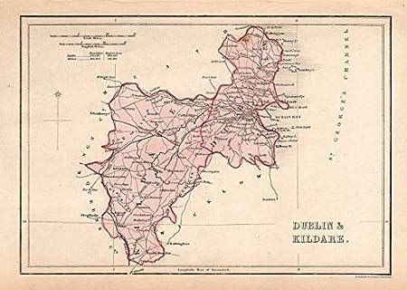 Antique Dublin Kildare County Map By Alfred Adlard Ireland
