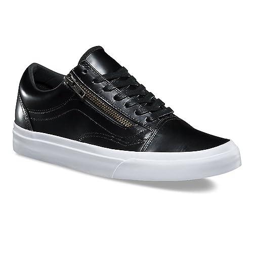 f3ace83c5c Vans Old Skool Zip (Smooth Leather) Black Women s 7  Amazon.co.uk  Shoes    Bags