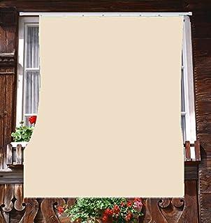 Coppia tende da sole per esterno tinta unita con anelli per balcone ...